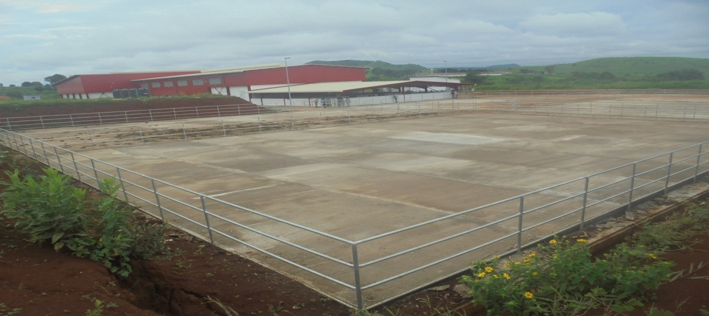 Vue extérieure de l'abattoir de 250 têtes de Ngaoundéré
