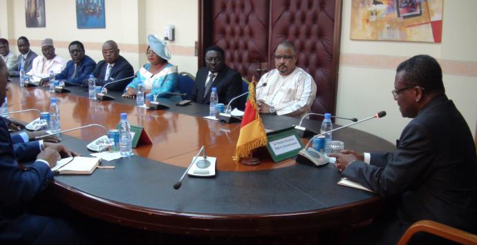 La délégation du SDF chez le PM